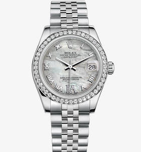 Replica Rolex Datejust Lady 31 Watch : Valkoinen Rolesor - yhdis