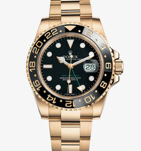 Replica Rolex GMT - Master II Watch : 18 ct keltakultaa - M11671