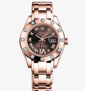 Replica Rolex Lady - Datejust Pearlmaster Watch : 18 ct Everose