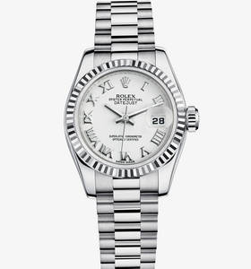 Replica Rolex Lady - Datejust Watch : 18 ct valkokultaa - M17917