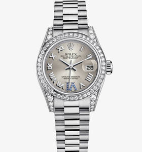 Replica Rolex Lady - Datejust Watch : 18 ct valkokultaa - M17915