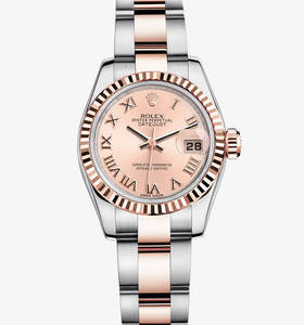 Replica Rolex Lady - Datejust Watch : Everose Rolesor - yhdistel