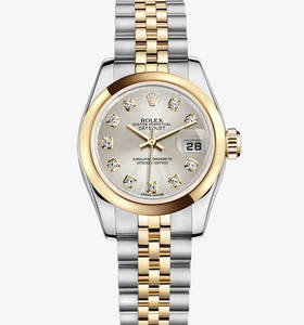 Replica Rolex Lady - Datejust Watch : Yellow Rolesor - yhdistelm