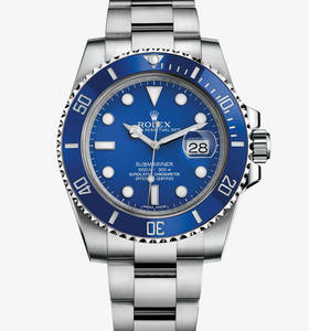 Replica Rolex Submariner Date Watch : 18 ct valkokultaa - M11661